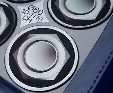 (1176CH) 4x Embleme für Nabenkappen Felgendeckel 60mm Silikon Aufkleber Schraube