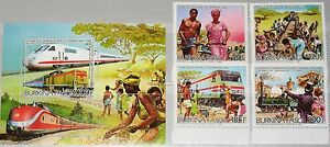 Burkina-Faso-1986-1082-85-bloque-120-a-766-70-Railroad-construction-trains-trenes