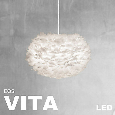 Hell Vita Eos Lampe Weiss Creme Led Kabelset Weiss Leuchte Vogelfedern