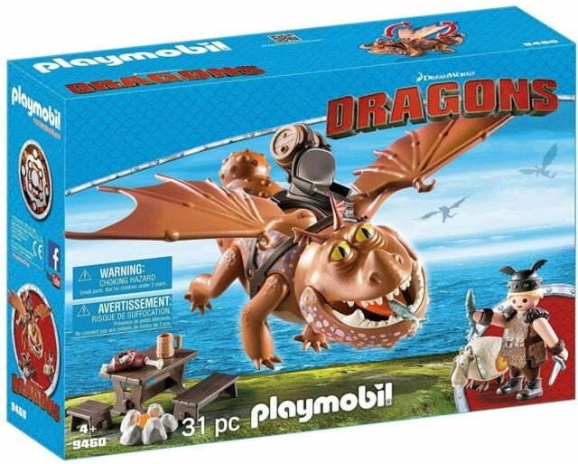 PLAYMOBIL: How to Train Your Dragon Fishlegs & Meatlug - 9460 [Kids 4+ Toys] NEW