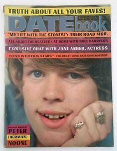 Datebook Magazine Feb 1967 Peter Noone Jane Asher The Beatles Teen Pop Culture