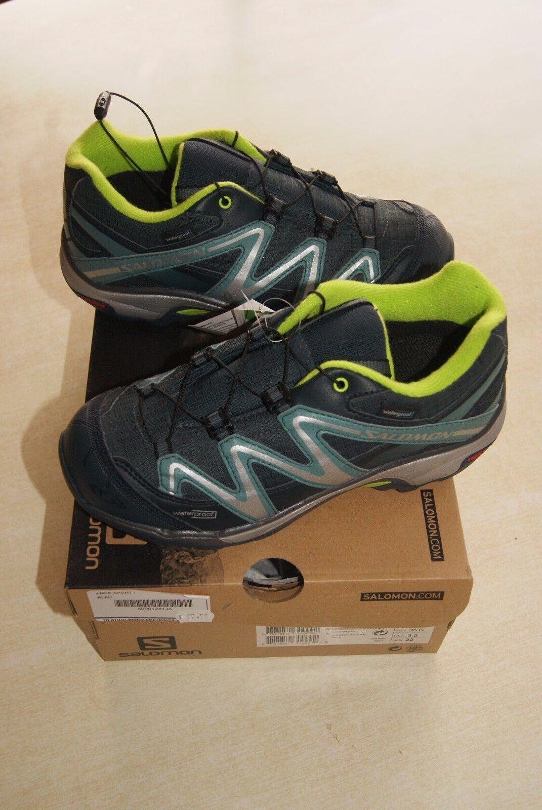shoes DE RANDONNEE NEUVES SALOMON XT WINGS WP K T 35.1 2