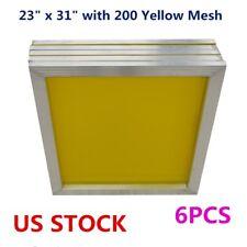 Usa 23 X 31 Aluminum Silk Screen Printing Frame 200 Yellow Mesh 6pcspack
