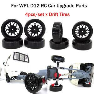Para-WPL-D12-RC-coche-4-un-Plastico-Neumaticos-de-deriva-modificada-de-piezas-Carreras-Neumaticos-De