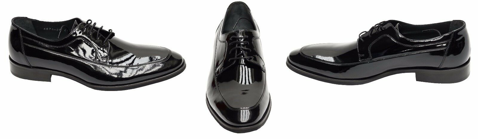 Echtleder Herren Lack Lack Herren Schuhe Gr.42 Schwarz e9ad92