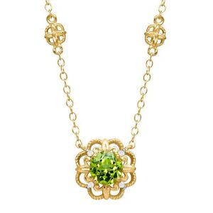 1-ct-Peridot-Rosette-Necklace-with-Diamonds-in-14K-Yellow-Gold