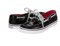 Sperry Topsider Black Sequins Boat Shoes  Little Girls Size 10
