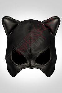 Catwoman mask Fetish Leather half-hood Kitten play mask ...