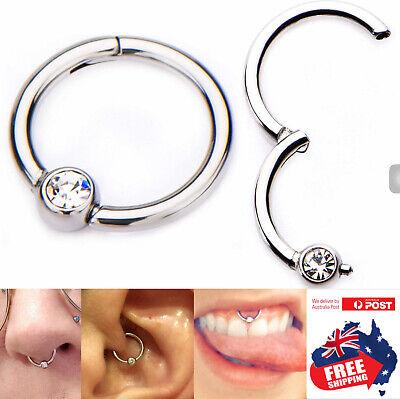 316L Water Drop Hinged Segment Clicker Hoop Ring Lip Ear Nose Body Piercing 1pc