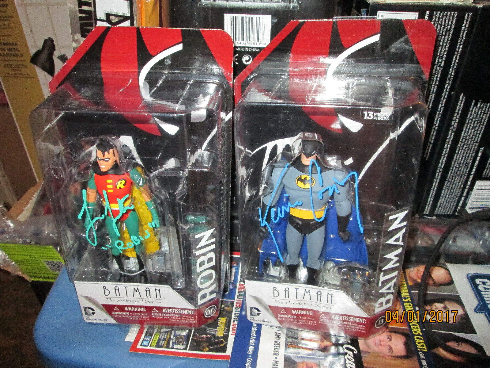 BATMAN ANIMATED SERIES ROBIN KEVIN CONROY LORIN LESTER DC COLLECTIBLES SIGNED