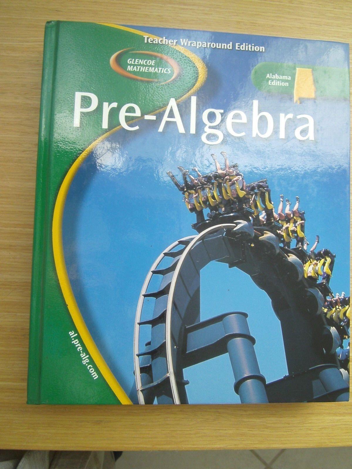Glencoe Pre-algebra Alabama Teacher Wraparound Edition 9780078660504