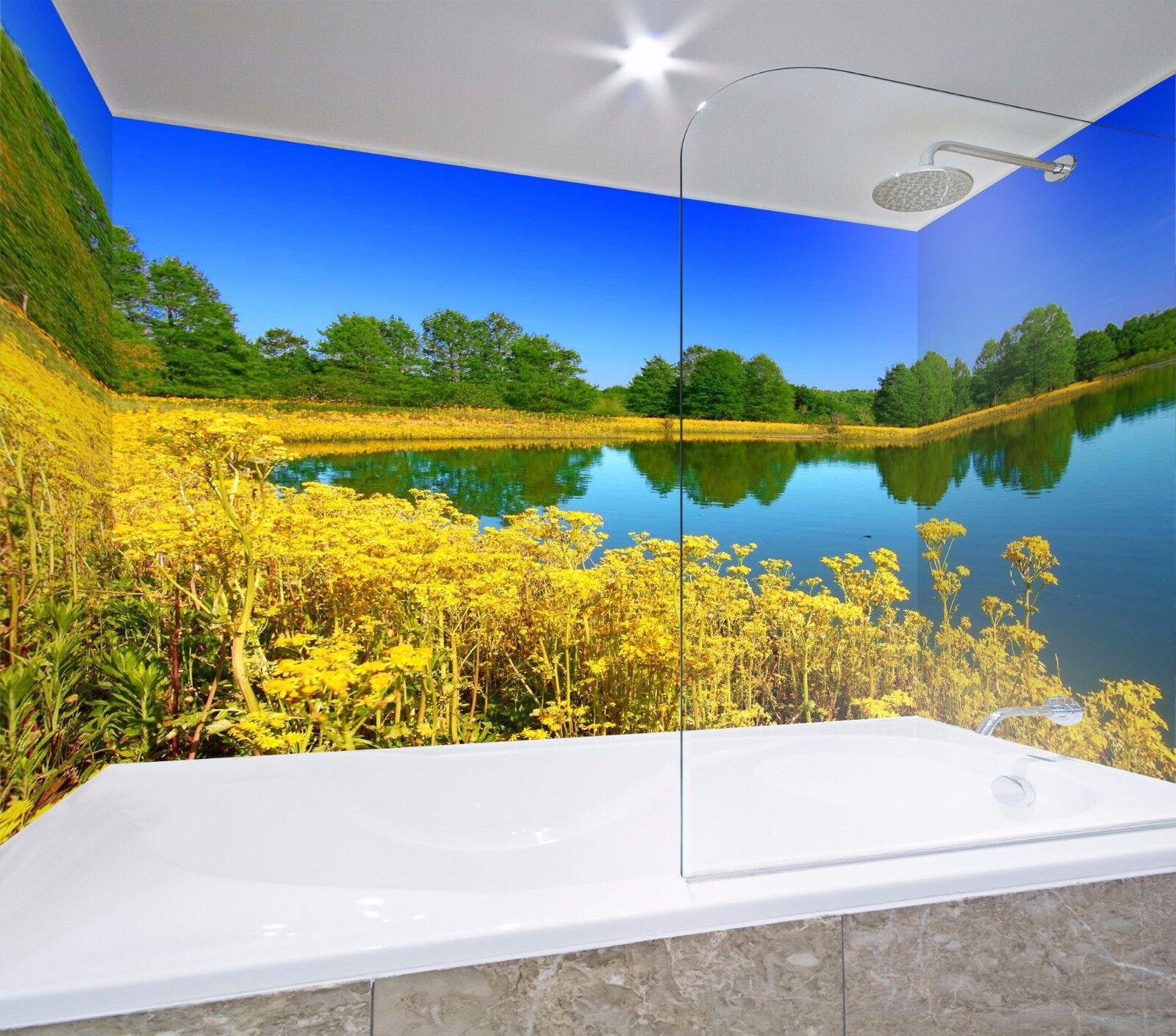 3D Rape Flowers 544 WallPaper Bathroom Print Decal Wall Deco AJ WALLPAPER AU