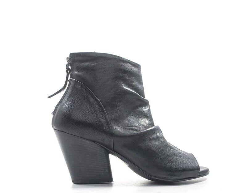 Zapatos dorojohyd señora negro naturaleza cuero hombre 12-ne