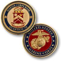 Usmc U.s. Marine Corps Base Semper Progredi Quantico Va Challenge Coin 61653