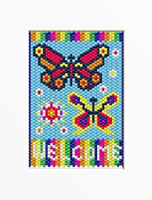 Bright Summer Welcome Pony Bead Banner Pattern