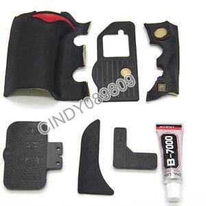 A Unit of 6 Pieces for Nikon D700 Grip Rubber Unit USB Rubber With 3M Tape+Glue
