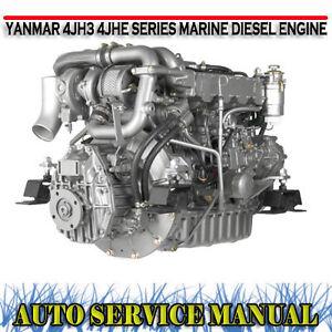 Details about YANMAR 4JH3 4JHE SERIES MARINE DIESEL ENGINE WORKSHOP SERVICE  MANUAL ~ DVD