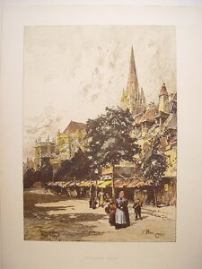 France-St-Pierre-Caen-Signed-Ilegible-Edited-By-J-S-Virtue