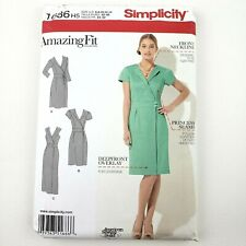 Choose a Simplicity Dress PATTERN sz 6-24 sheath flare Top scarf easy AmazingFit