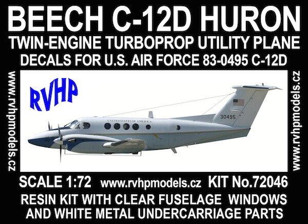 RVHP Models 1 72 Beech C-12D Huron (USAF) Model Kit