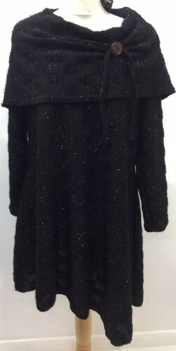 """Cover Up Exclusive Oversized Collar Long Sleeve Dress Size 2 Bust Upto 54"""""""