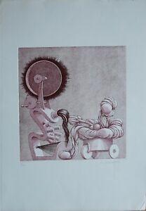 Emilio Baracco incisione acquaforte Strumenti 50x35 firmata numerata 17/50