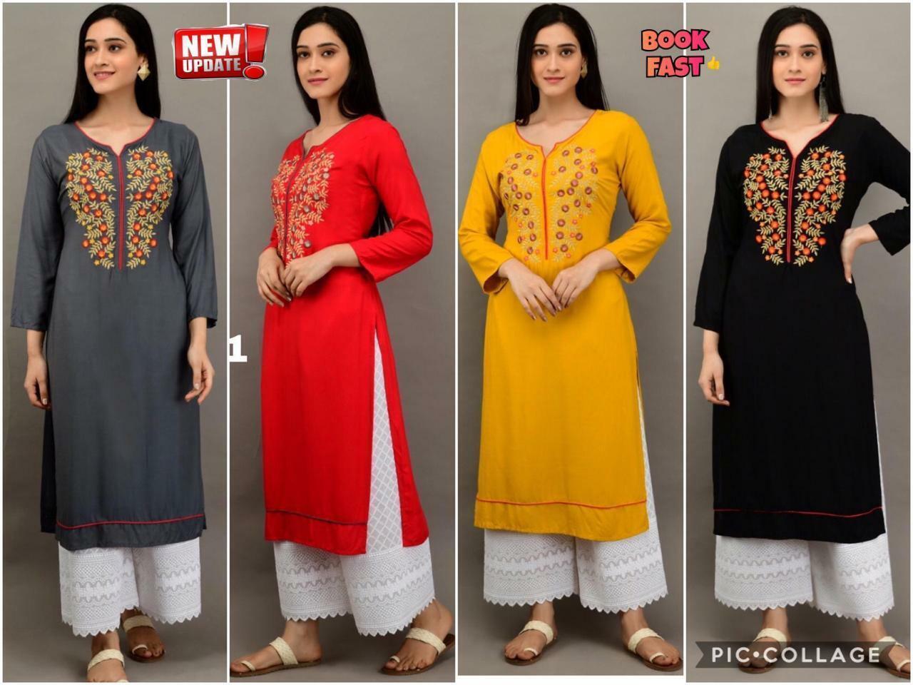 New Designer Indian Embroidered Top Lucknow Chikankari Plazzo Set Salwar Kameez