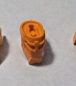 Lego Hero Factory Part 93277 Head Lower Part W Snap Orange Ebay