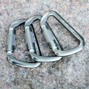 30KN D Ring Carabiner Hook Auto Locking Karabiner Climbing Caving Rappelling