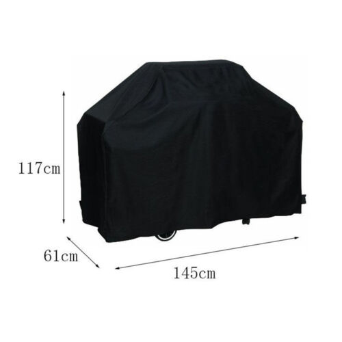 1x Black BBQ Cover Gas Barbecue Grill Protection Outdoor Waterproof Polyester