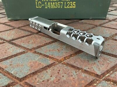 Glock 19 Custom Stainless Honeycomb Slide Wirh Rear Serrations Gen 3