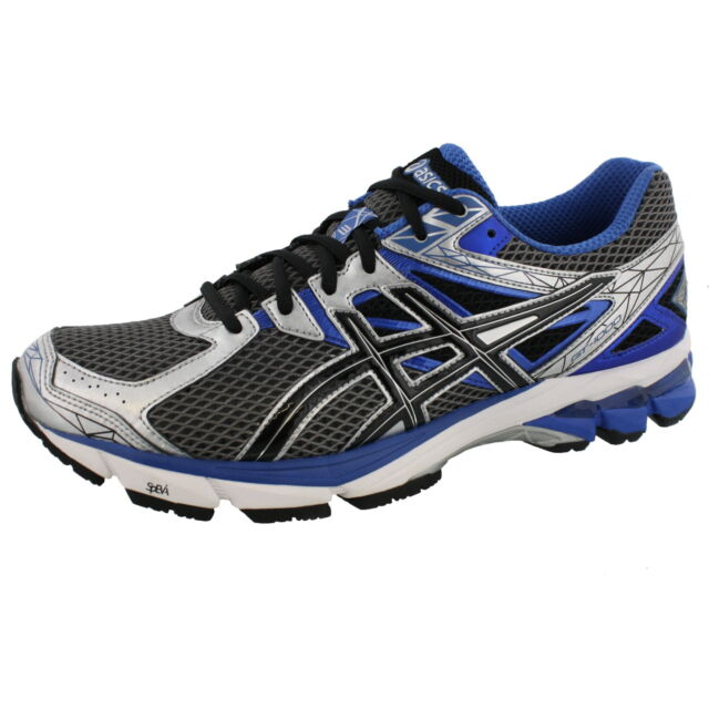 01619aa05b ASICS MENS GT 1000 3 LIGHTNING BLACK ROYAL 4E WIDE WIDTH RUNNING SHOES