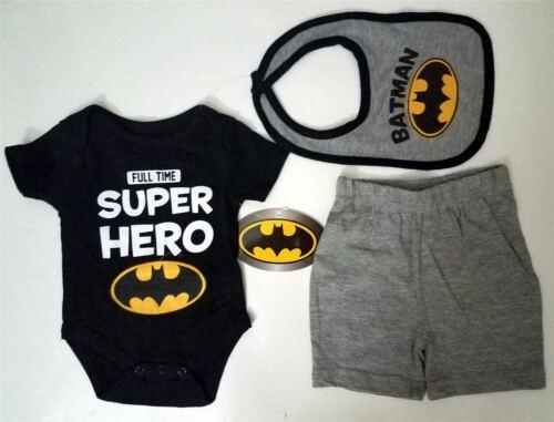 BATMAN DC Comics SUPERHERO Baby Infant Toddler ONE PIECE BODYSUIT 3 6 9 Months