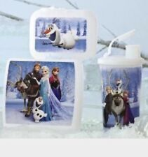 TUPPERWARE FROZEN LUNCH 3pc set HOLIDAY GIFT Elsa Anna Olaf Sven tumbler Disney