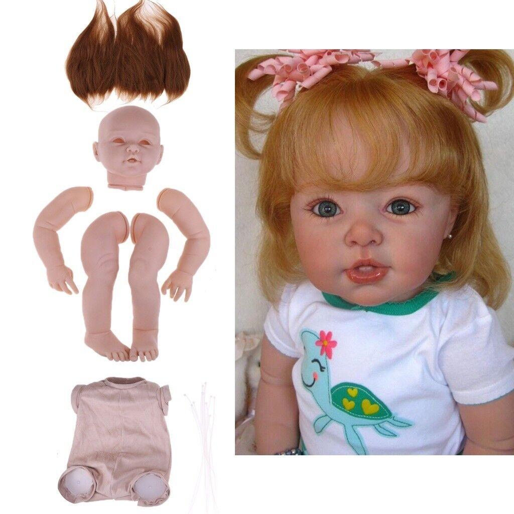 Baoblaze Unpainted 29  Reborn Kits Newborn Baby Mold Cloth Cloth Cloth Body Mohair Hair  centro comercial de moda