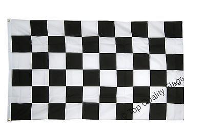 GIANT Checkered FLAG schwarz weisse 150x250cm – 8ftx5ft