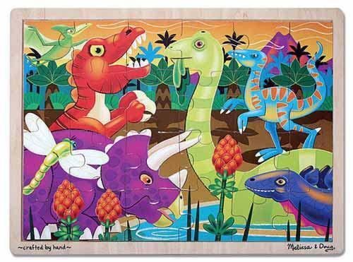 Melissa /& Doug : Prehistoric Sunset Wooden Jigsaw Puzzle 24 Pieces NEW 2936