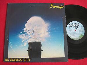 VG-RARE-ROCK-LP-SEMAJA-NO-BURNING-OUT-1983-ORIGINAL-REFUGE-84001