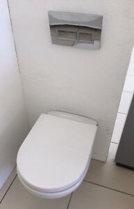 NEW-Argent-Wall-Hung-Toilet-Suite-Package-White-Chrome-Ex-display