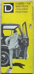 FORD D SERIES TRUCK Commercial Sales Brochure Leaflet Feb 1964 #R7593/2/64