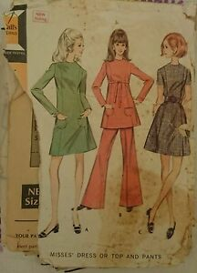 Vintage 1960s Sewing pattern Mccall039s 2010 Misses039 Dress or Top 14 Complete - <span itemprop=availableAtOrFrom>Middlesbrough, United Kingdom</span> - Vintage 1960s Sewing pattern Mccall039s 2010 Misses039 Dress or Top 14 Complete - Middlesbrough, United Kingdom