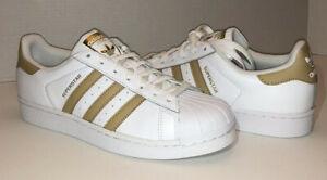 adidas superstar blancas con dorado