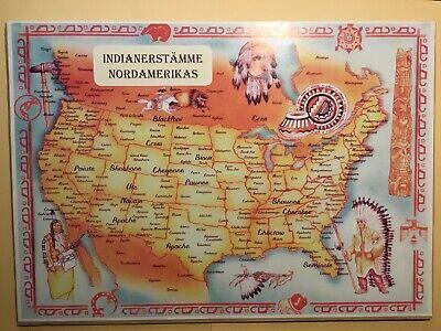 Deutschsprachige Karte Indianerstamme Nordamerikas Ebay