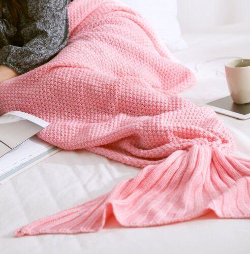 enfant adultes tricoté Queue De Sirène Canapé couverture crocheté Cocon COUETTE