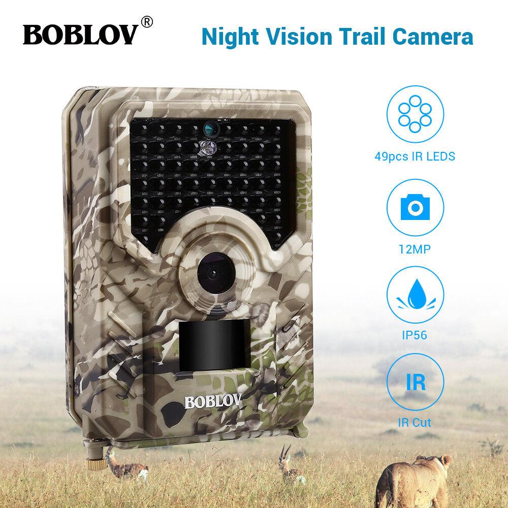 BOBLOV 12MP Hunting Camera 1080P 940NM 120 Wild Lens Game Scouting Trail Camera