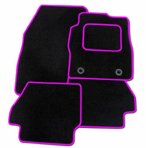 MAZDA 2 2015 ONWARDS TAILORED CAR FLOOR MATS BLACK CARPET WITH PINK TRIM