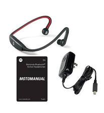 oEM MOTOROLA S9 BLUETOOTH MOTOROKR STEREO HEADSET WIRELESS HEADPHONES RED/BLACK