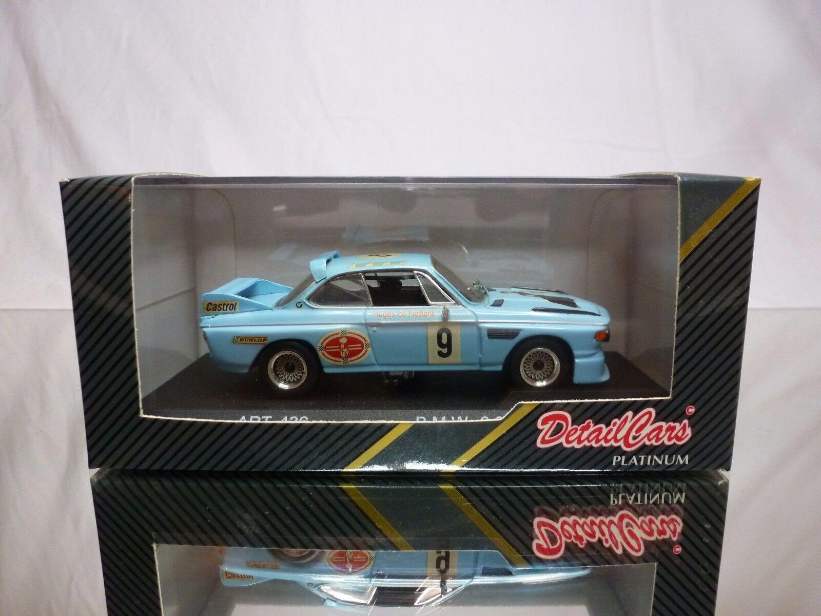 garantizado DETAIL CocheS 436 BMW 3.0 CS 1977    - PALE azul  1 43 - GOOD CONDITION IN BOX  100% a estrenar con calidad original.