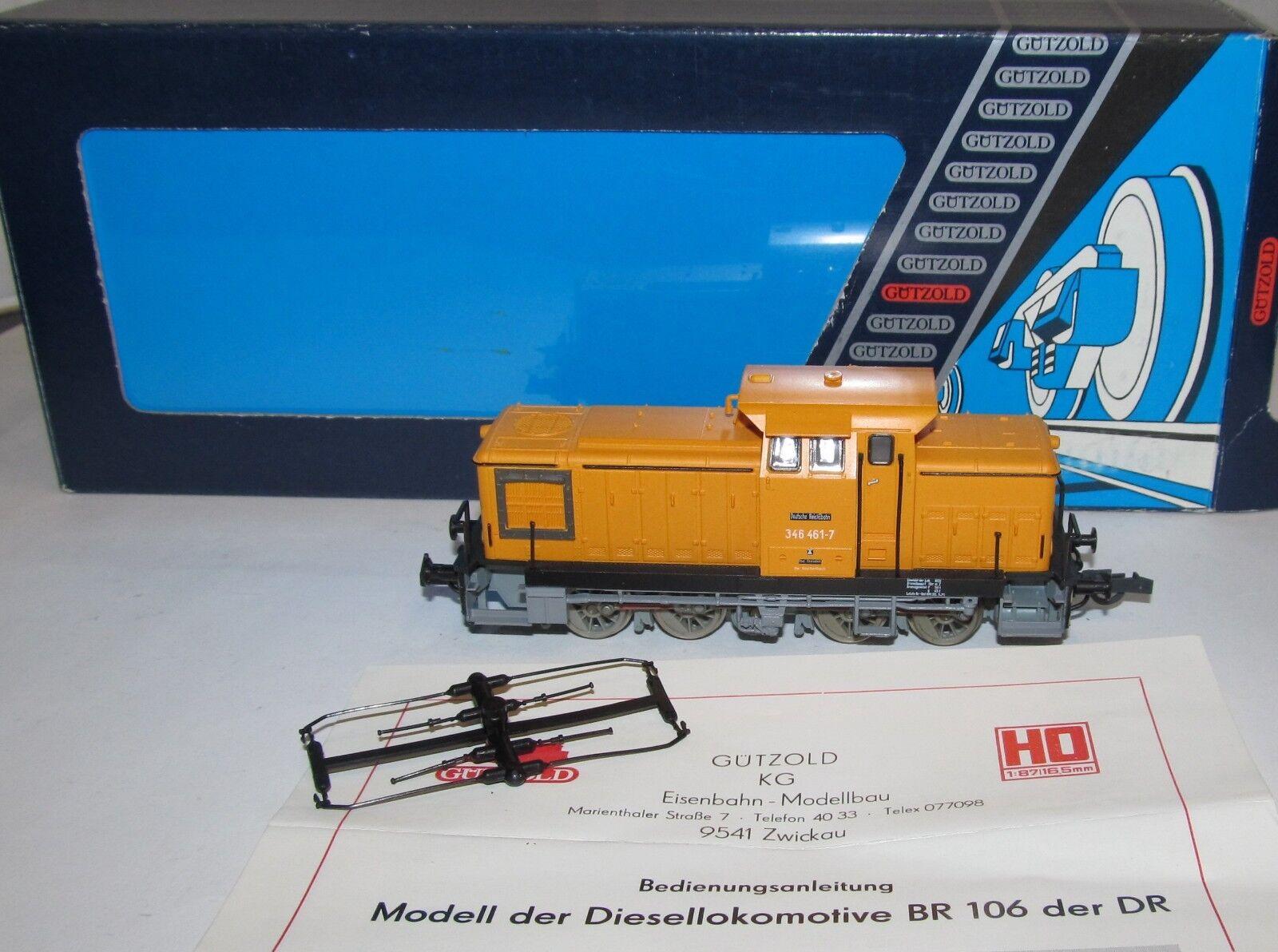 Gützold H0 25 800    (25800) analoge Diesellok BR 346 461-7 DR, OVP, XR2190X    Feinbearbeitung  d6de74