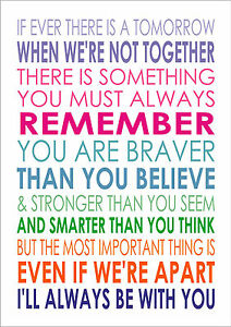 If Ever There Is A Tomorrow You Are Braver Winnie The Pooh